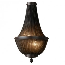 RH LED 19TH C. FRENCH EMPIRE CHAINMAIL WALL LAMP