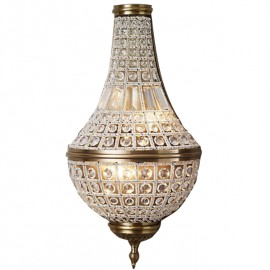 RH LED 19TH C. FRENCH EMPIRE CRYSTAL WALL LAMP