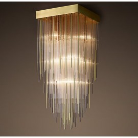 RH CASCADA CEILING LAMP SQUARE