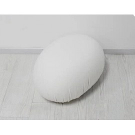 Tato stool Egg seat pouf in white on sale