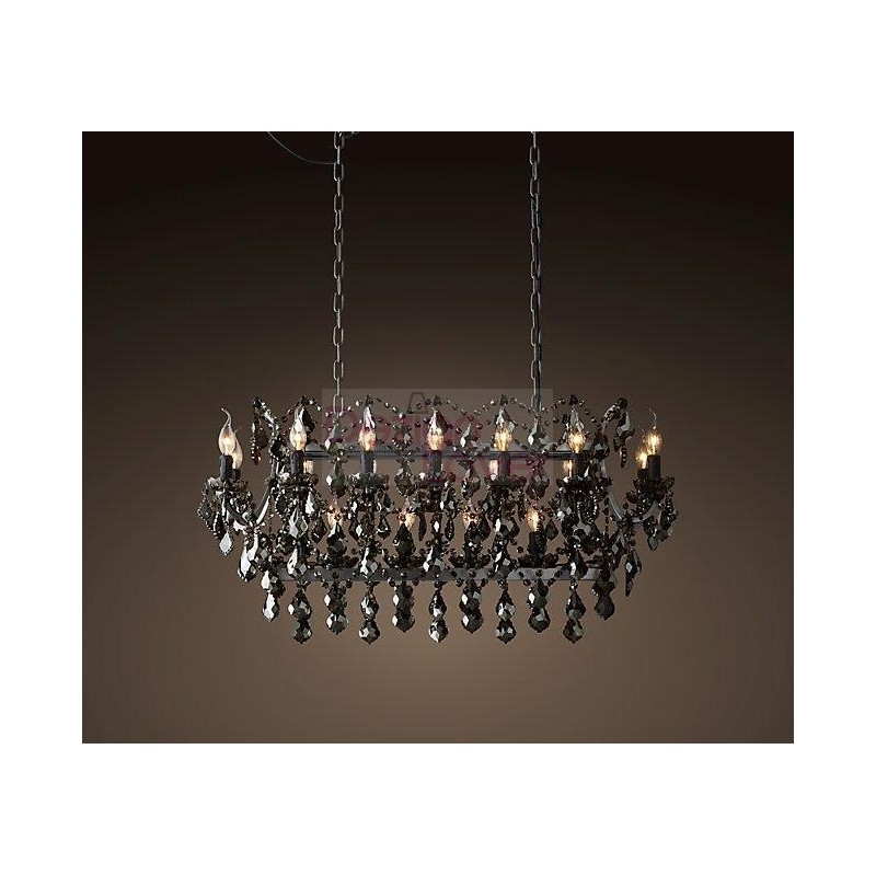 Rh 19th C Rococo Iron Crystal Rectangular Chandelier Loading Zoom