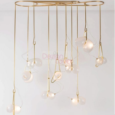 Catch Design LED Chandelier Pendant Lamp 10 Lights By LINDSEY ADELMAN   A  Decorative Lighting Design On Dezignlover.com