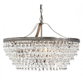 Clarissa Crystal Drop Round Chandelier