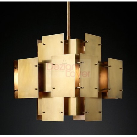 RH CATHEDRAL BRASS PENDANT LAMP