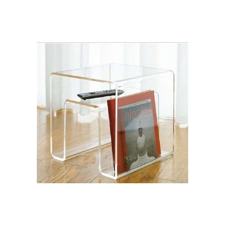 Magazine Rack Side Table Design In Acrylic By   Design By  Free Shipping To  Worldwide!