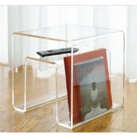 Magazine rack Side table design in acrylic