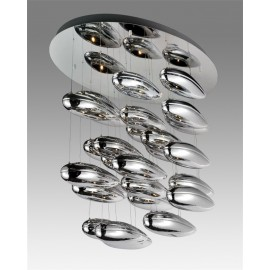 Mercury cluster ceiling lamp