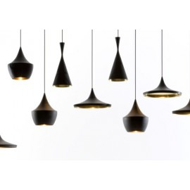 Beat pendant lamp black