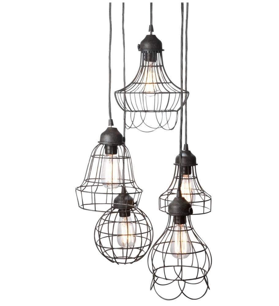 Wire Five Pendant lamp with Edison bulbs by Pottery Barn - Design by ...