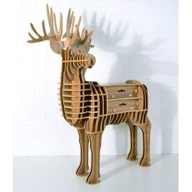 Stag Deer bookshelf with drawer