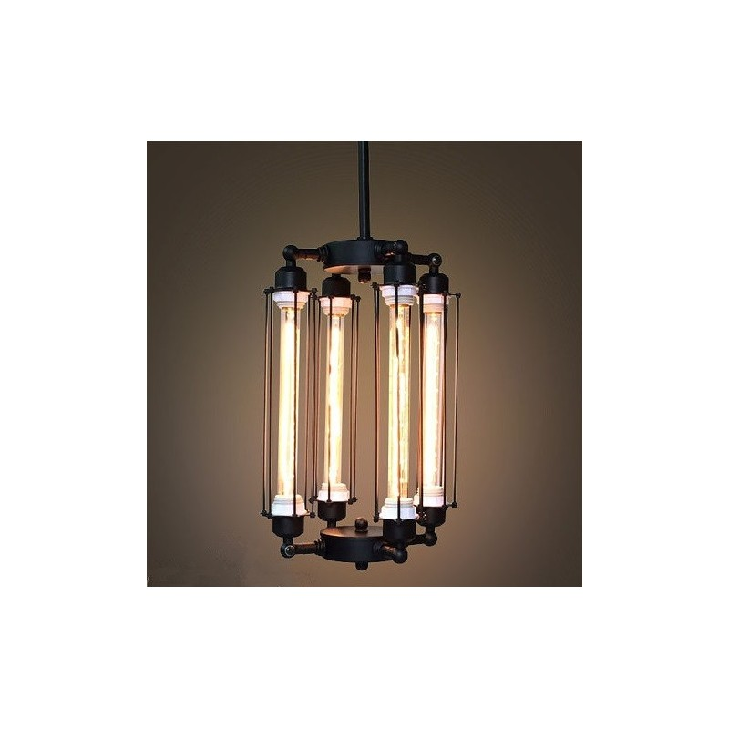 Suspension design industriel r tro 4 ampoules edison tube par vitra un lumi - Suspension ampoule design ...