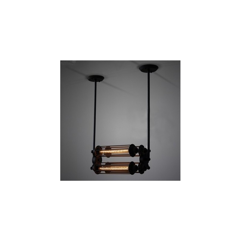 suspension design industriel r tro avec 4 ampoules edison tube par vitra design par. Black Bedroom Furniture Sets. Home Design Ideas