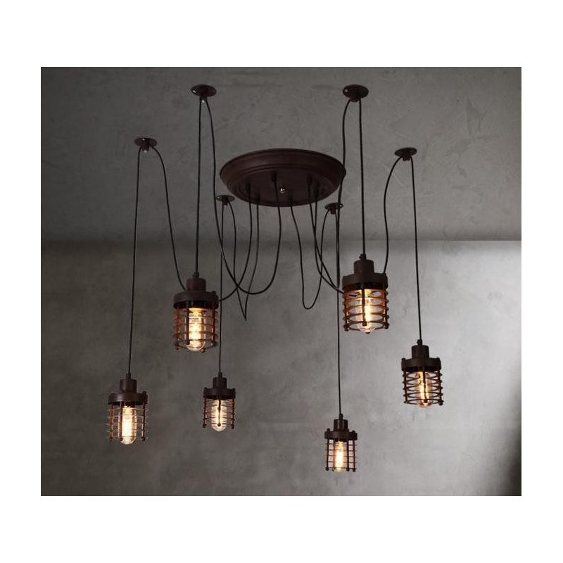 chandelier design industriel vintage elexir par dezignlover livraison gratuite pour le monde. Black Bedroom Furniture Sets. Home Design Ideas
