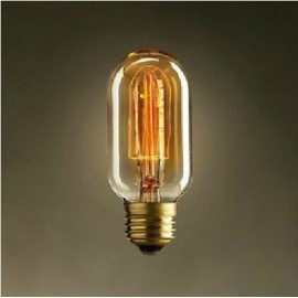 Edison Filament Light tube Bulb T45