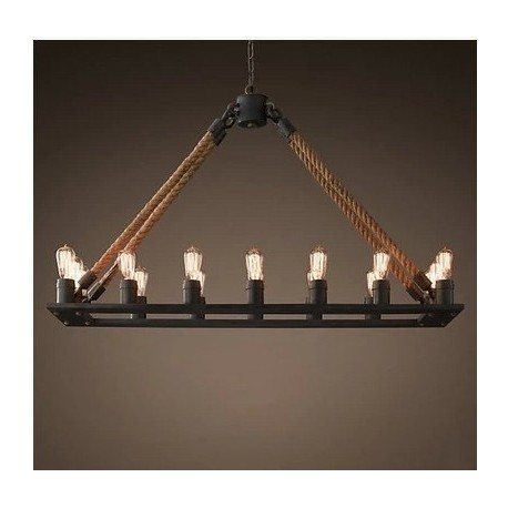 Rh loft countryside retro industrial hemp rope chandelier pendant rh loft countryside retro industrial hemp rope chandelier pendant lamp aloadofball Image collections