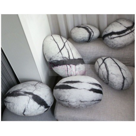 Collection Comet design Rock cushion pouf set of 6pcs by Smarin ...