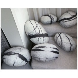 Collection Comet design Rock cushion pouf set of 6pcs