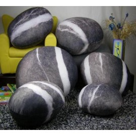 Collection Fixed star design Rock cushion pouf set of 6pcs