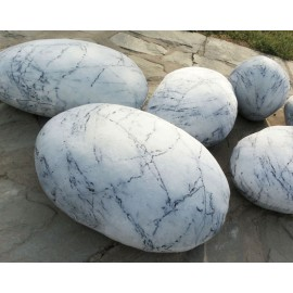 Collection Mercury design Rock cushion pouf set of 6pcs