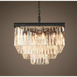 RH 1920S ODEON CLEAR GLASS FRINGE SQUARE CHANDELIER