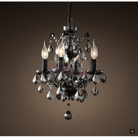 Rh 19th c rococo smoke crystal chandelier a modern industrial rh 19th c rococo smoke crystal chandelier a modern industrial lighting design on dezignlover aloadofball Image collections