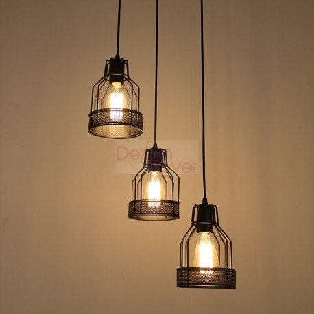 edison pendant lighting. Industrial Cage 2 Pendant Lamp Design With Edison Bulbs Lighting L