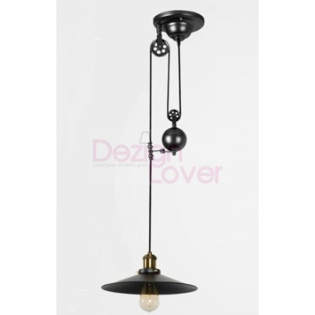 suspension design industriel avec poulie par pottery barn design par livraison gratuite pour. Black Bedroom Furniture Sets. Home Design Ideas