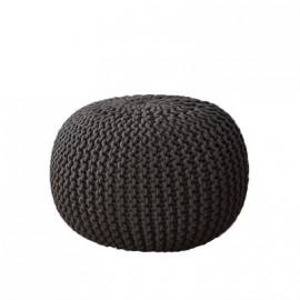 Pouf tabouret coussin tricoté