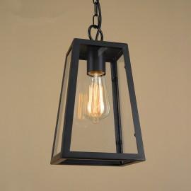 Suspension design industriel Loft avec edison bulb