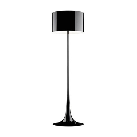 Spun floor lamp design