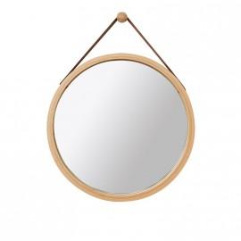Miroir strap forme ronde