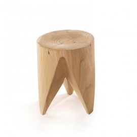 Table d'appoint design J+I ZIG + ZAG bois massif