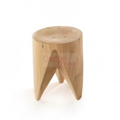 J+I ZIG + ZAG side table solid wood stool