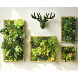 Artificial green wall plant panels