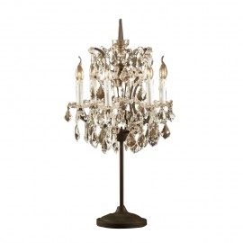 RH 19TH C. ROCOCO IRON CRYSTAL Table Lamp