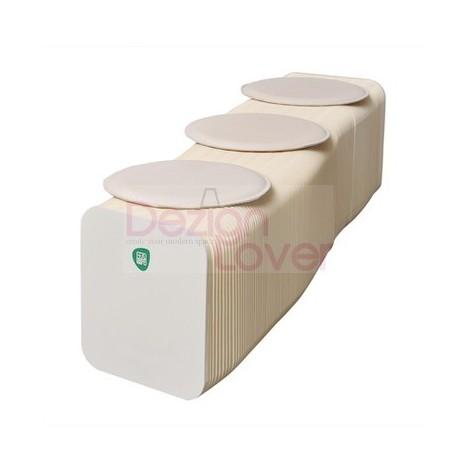 Banc extensible et modulable H28cm en blanc