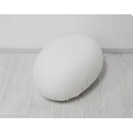 Pouf cushion stool Tato en blanc en solde