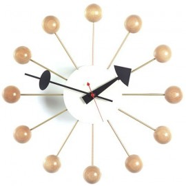 Horloge Nelson ballclock naturel en solde