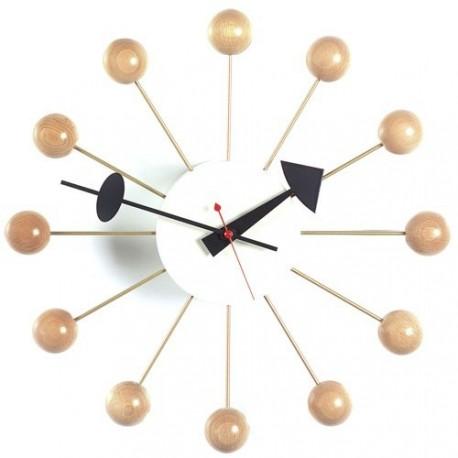 Horloge Nelson ballclock naturel