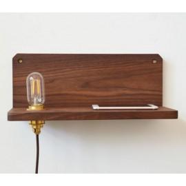 Applique en walnut design Frame 90 avec Etagère