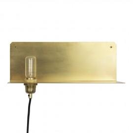 Applique en laiton design Frame 90 avec Etagère