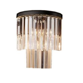RH 1920S ODEON CLEAR GLASS FRINGE WALL LAMP DESIGN