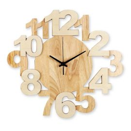 Algo wall clock in solid wood