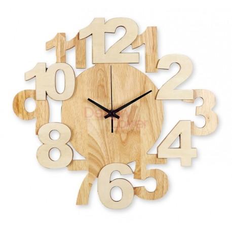 Horloge design Algo en bois massif
