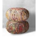 Silk pumpkin pouf ottoman
