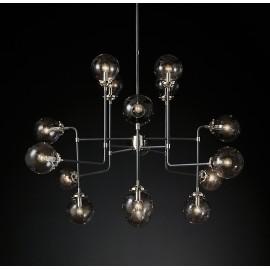 RH BISTRO GLOBE CLEAR GLASS LED CHANDELIER