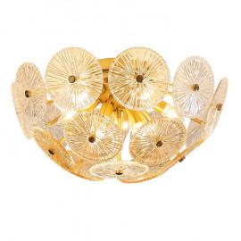 Plafonnier design Lily Pad en verre