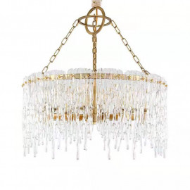 Cold Heart Ice Glass Round Chandelier