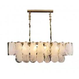 Leon Rectangular Chandelier 2 Tiers Luxury Lighting