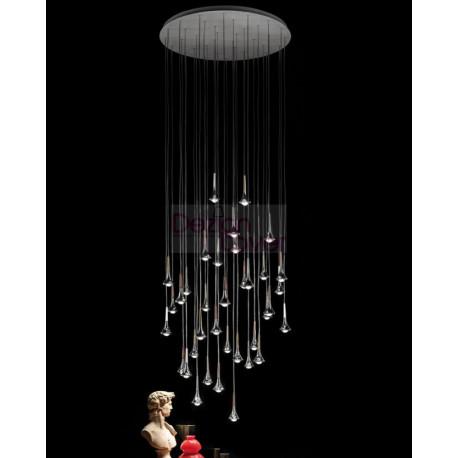 Rain Multi-Light LED Pendant Light Large